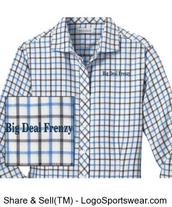 Red House Ladies Non-Iron Tricolor Check Shirt Design Zoom